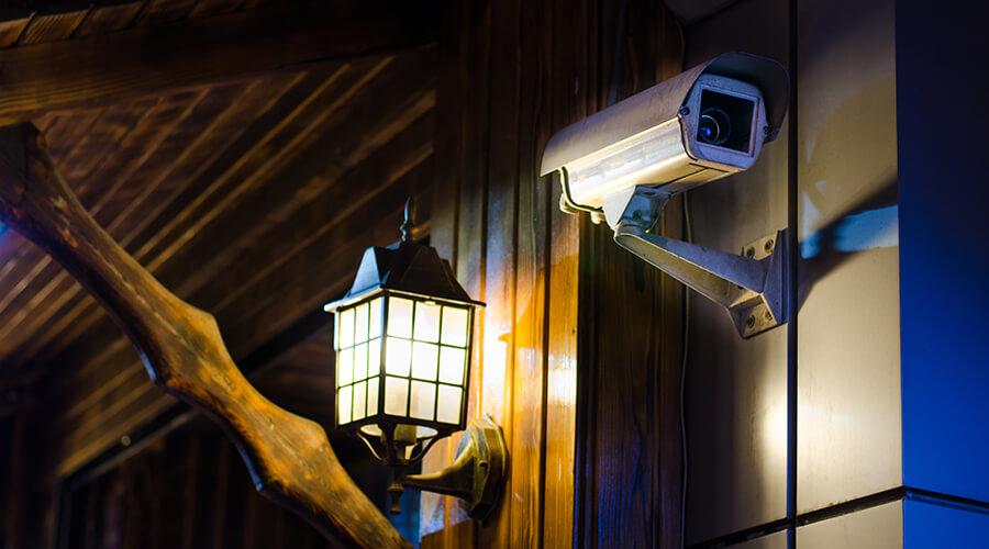 CCTV camera outside home