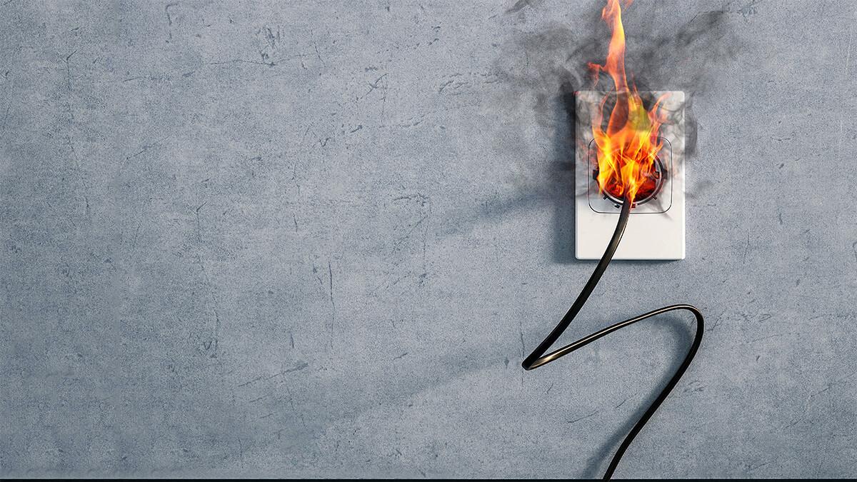 Plug Socket On Fire